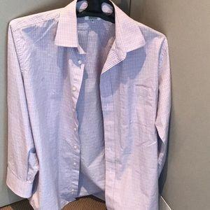 Barneys plaid dress shirt